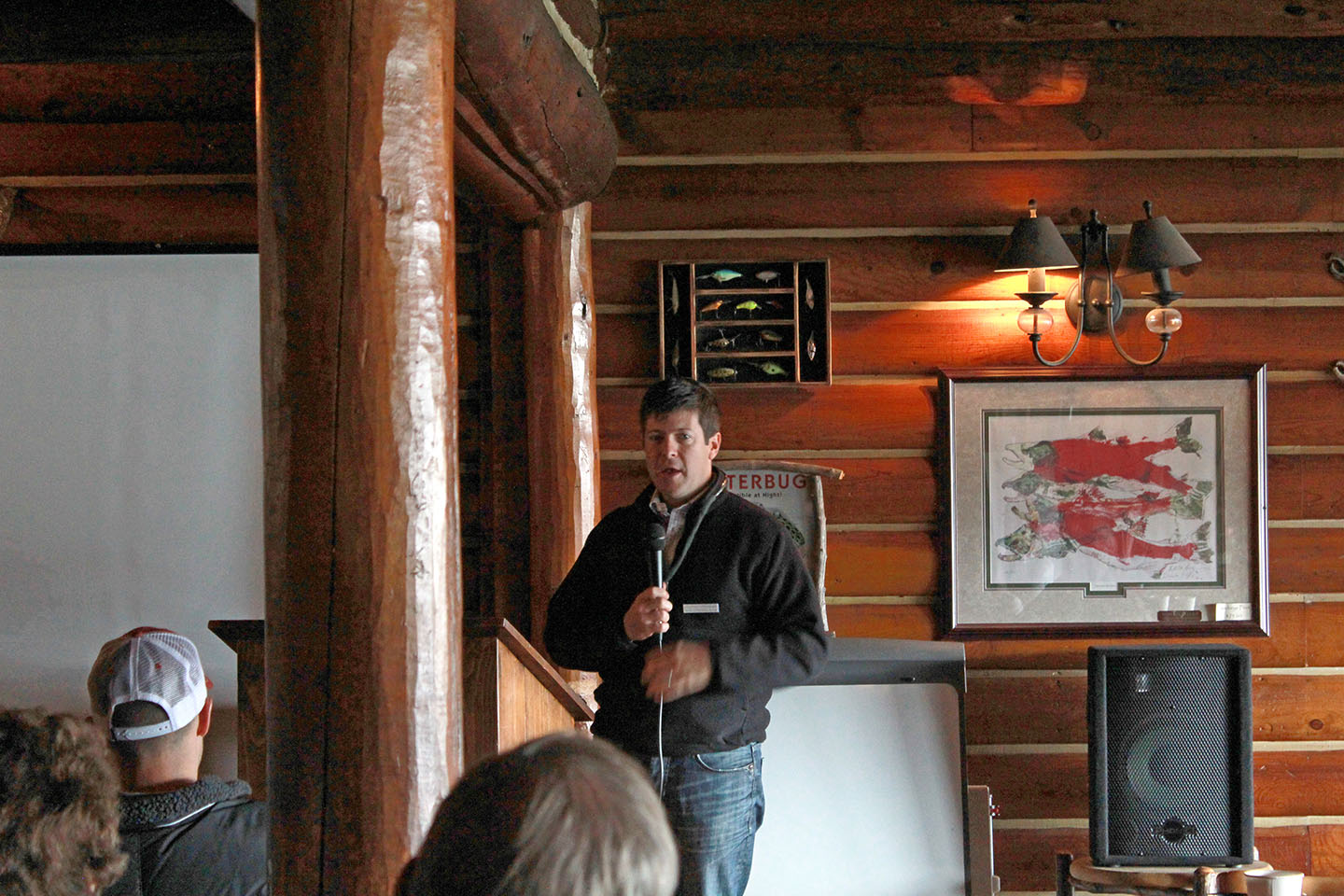 Jonathan Oppenheimer '92 speaking at the Idaho Conservation League's annual Wild Idaho! conference at Redfish Lake Lodge in Idaho's Sawtooth National Recreation Area. MARY BETH WHITAKER